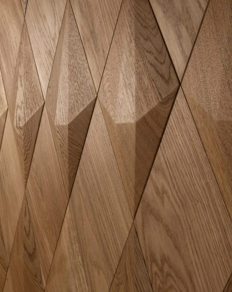 3d wall panel hospitality fine oak diamond satin oiled