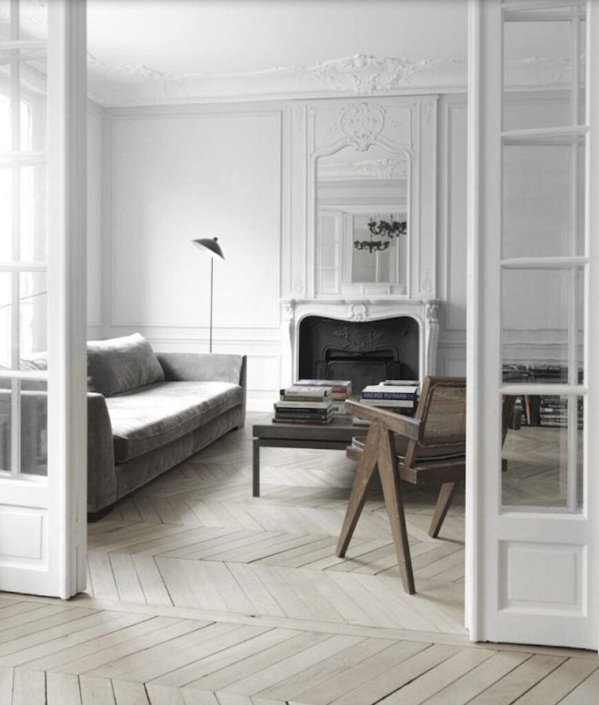 aged chevron solid flooring french oak oiled rustic grade