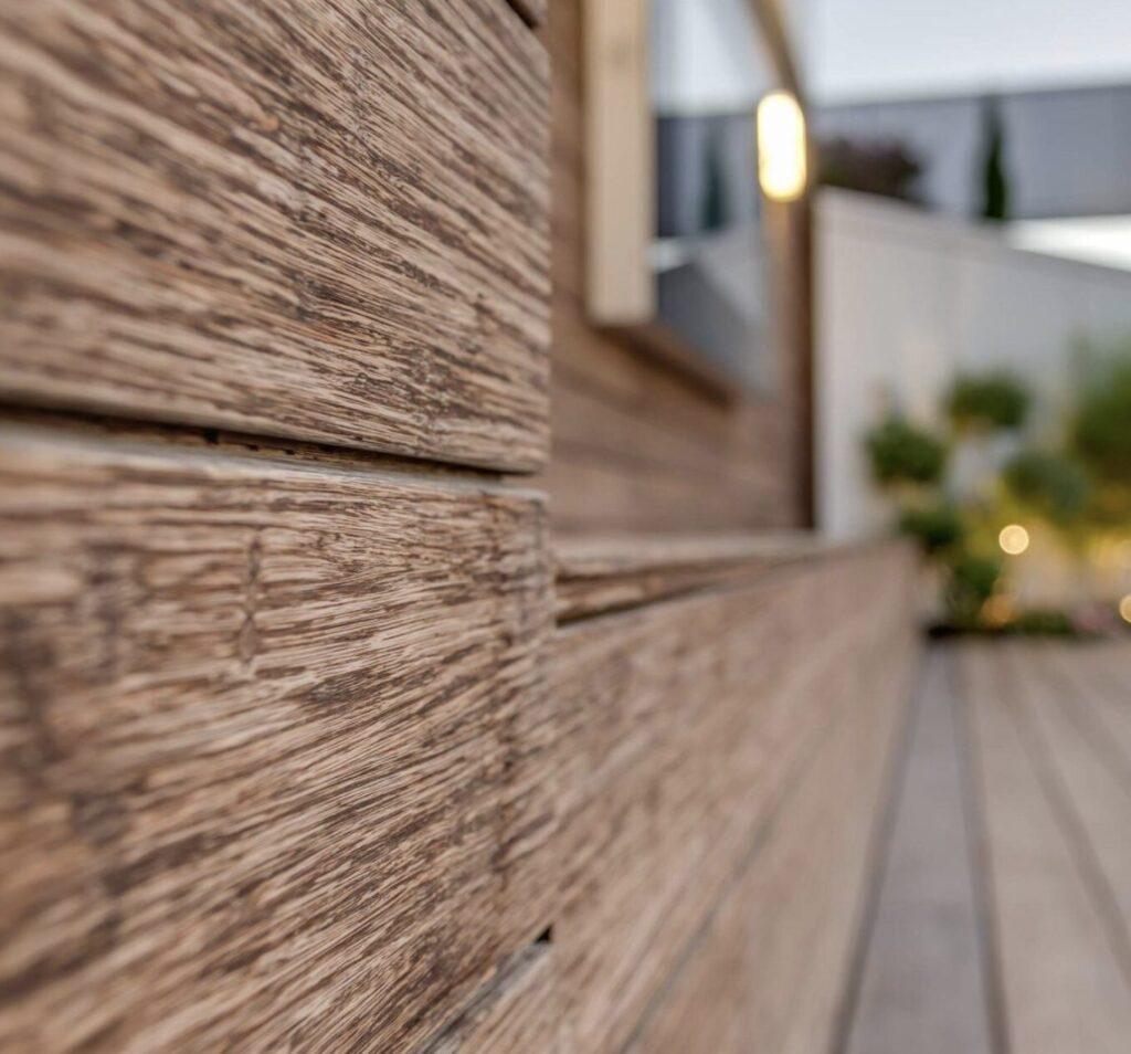 bamboo wallcladding outside