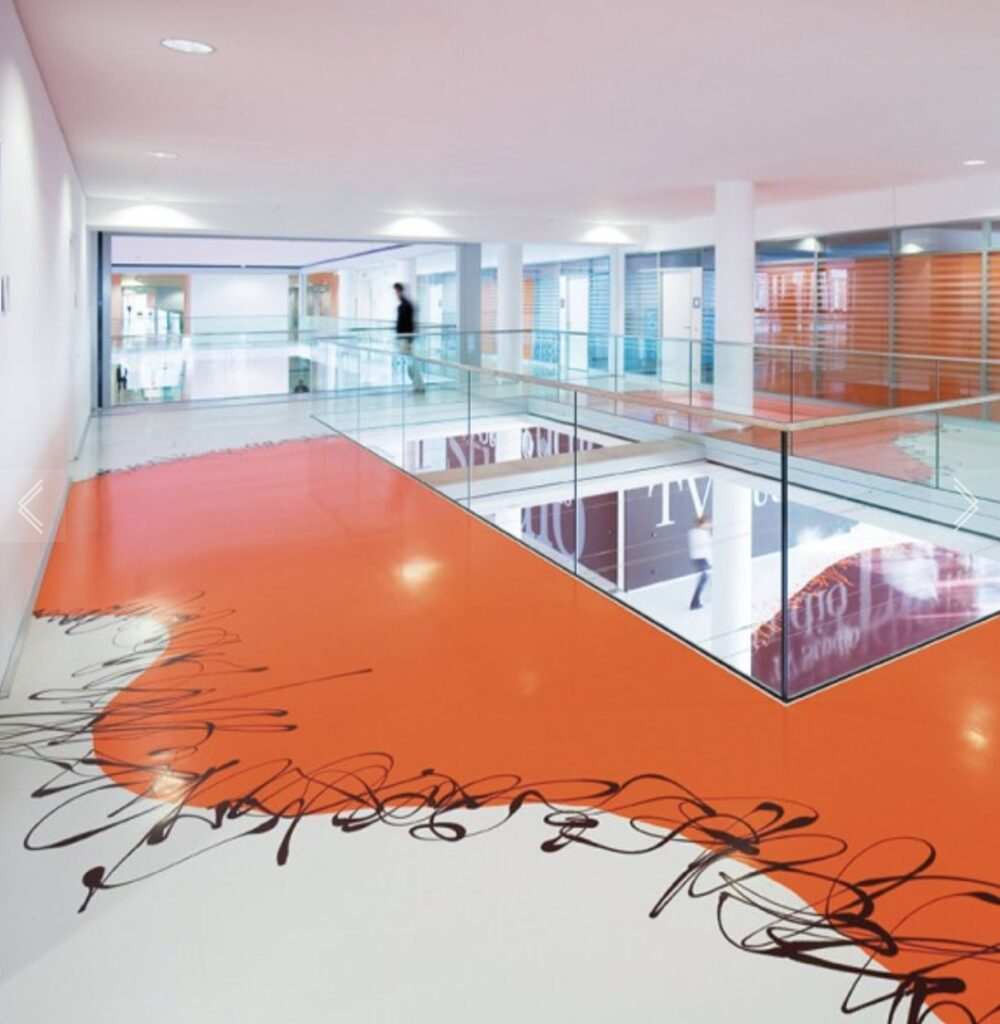 castfloor biopolymer office color orange