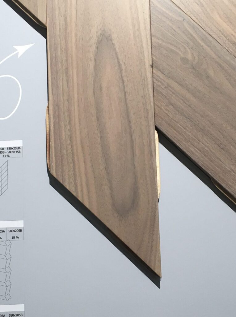 chevron engineered flooring american walnut stained silk lacquared natural grade