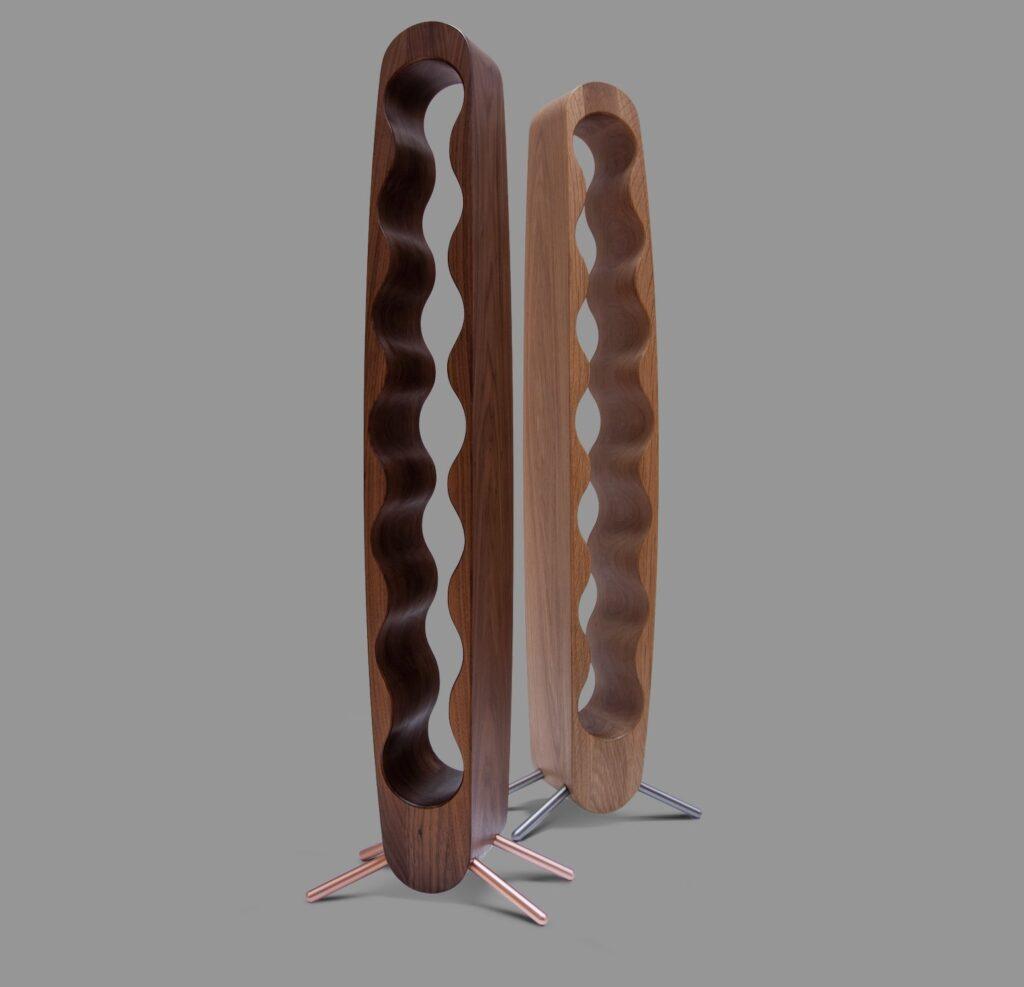 design winerack egg 7 bottles american walnut oak select grade