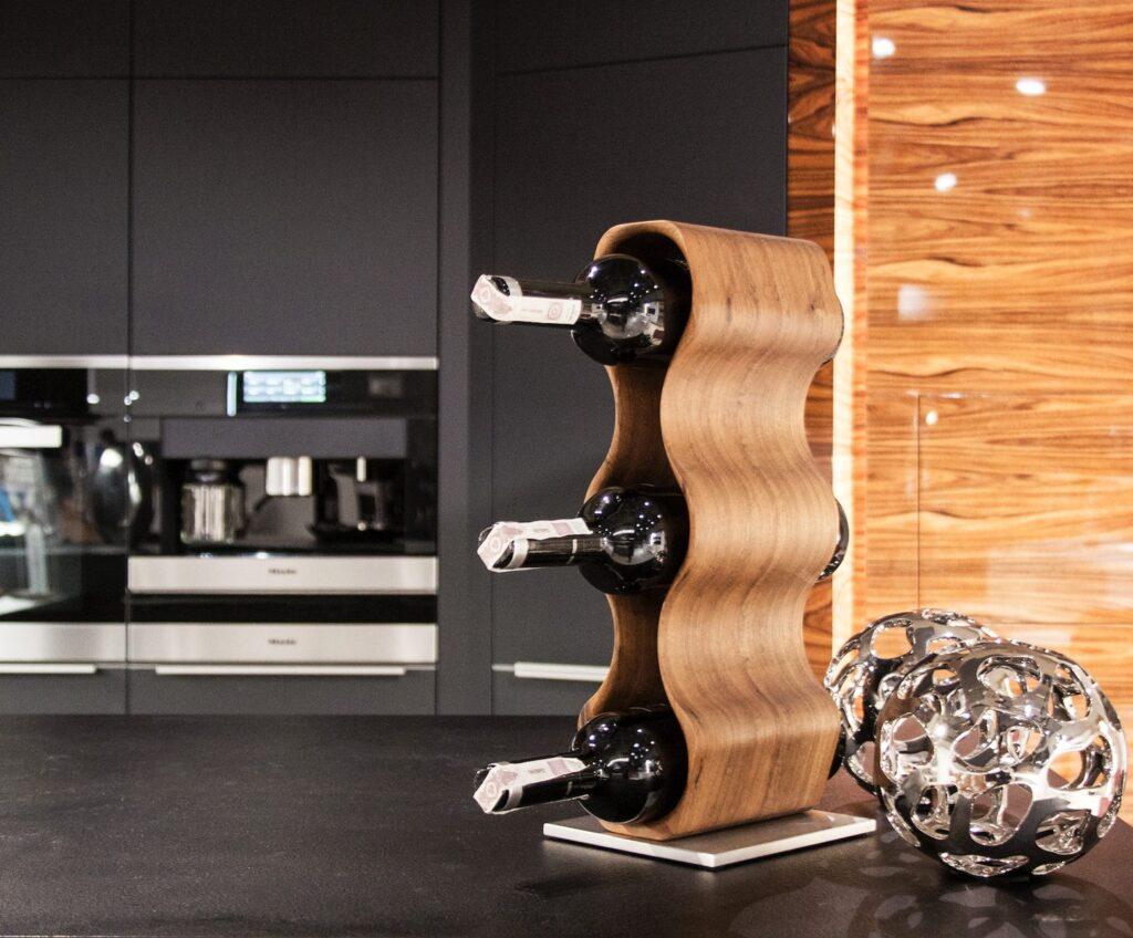 design winerack slim american walnut side view
