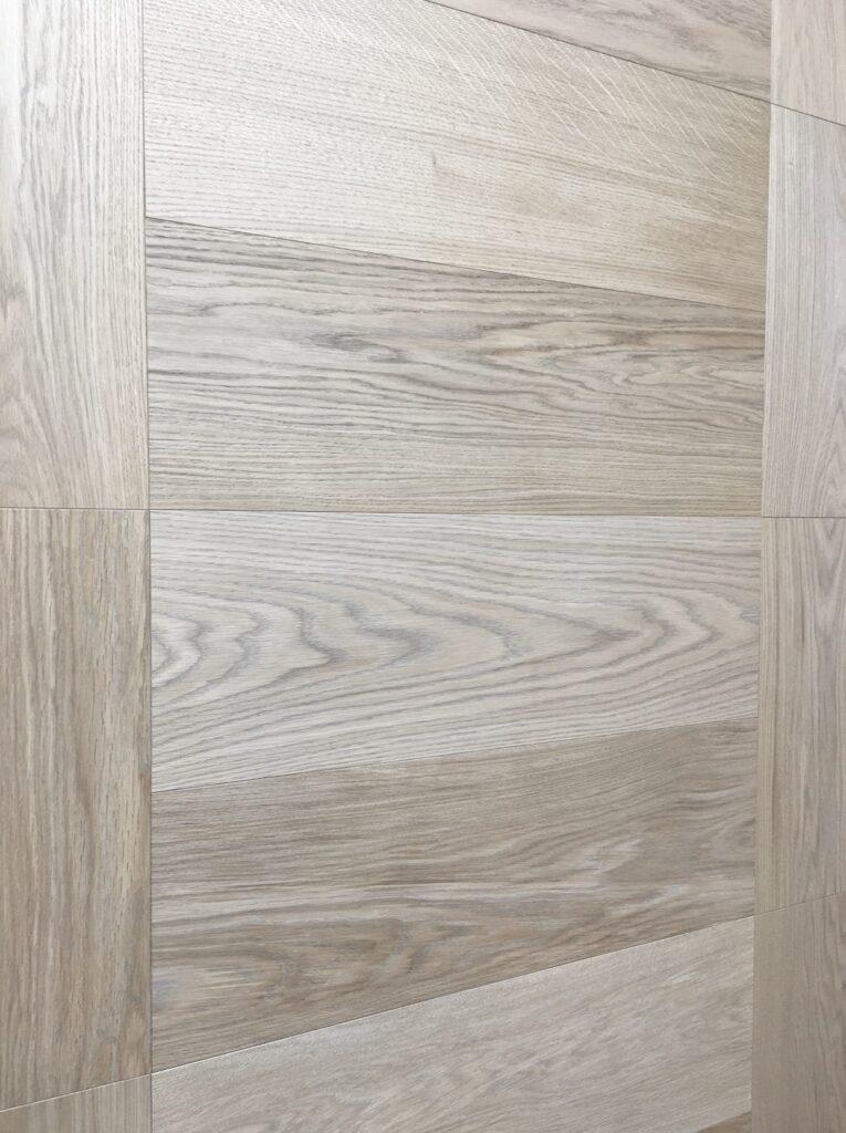 herringbone engineered flooring bloc pattern slavonian oak brushed transparent oiled natural grade