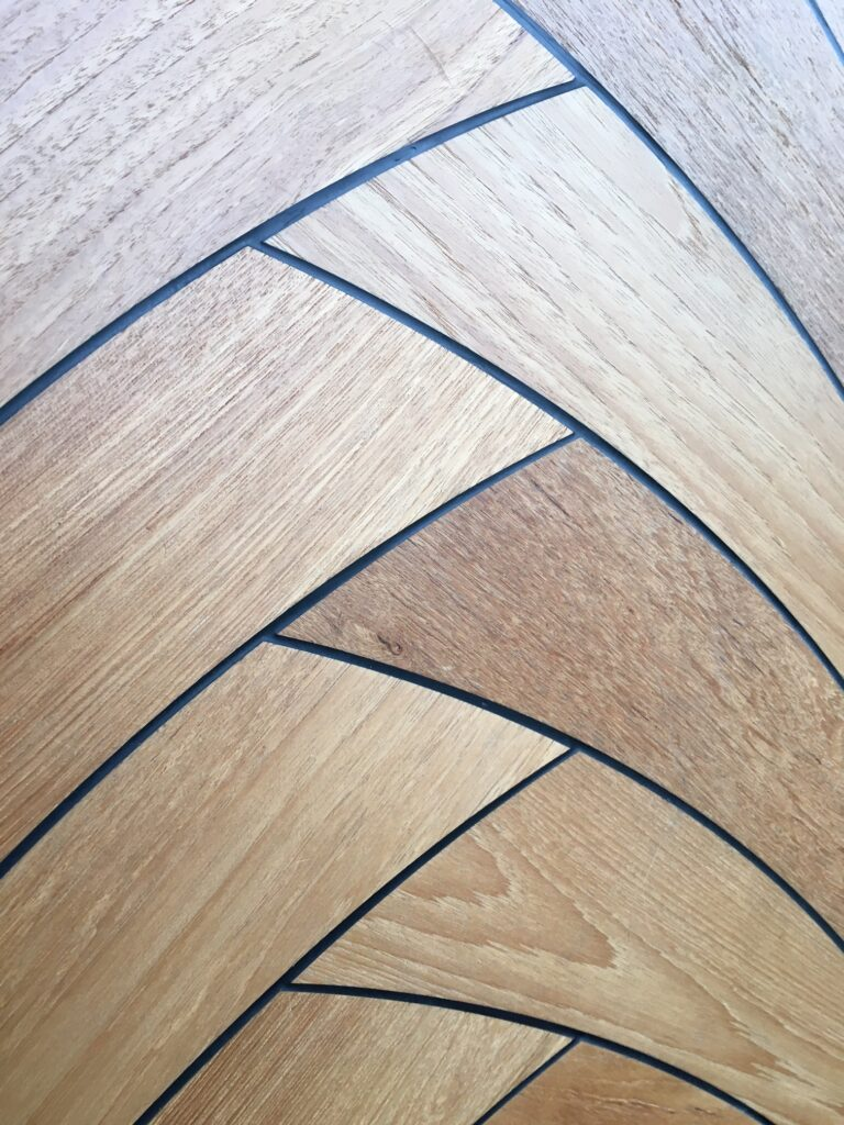 herringbone engineered flooring french oak nautic design black caulking select grade closeup