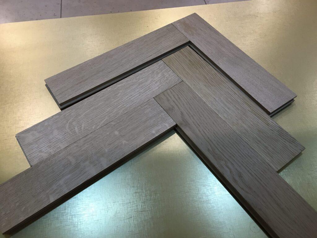 herringbone solid flooring slavonian oak darkbrown oiled select grade