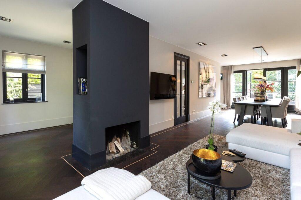 herringbone solid flooring wenge with solid maple strips oiled livingroom