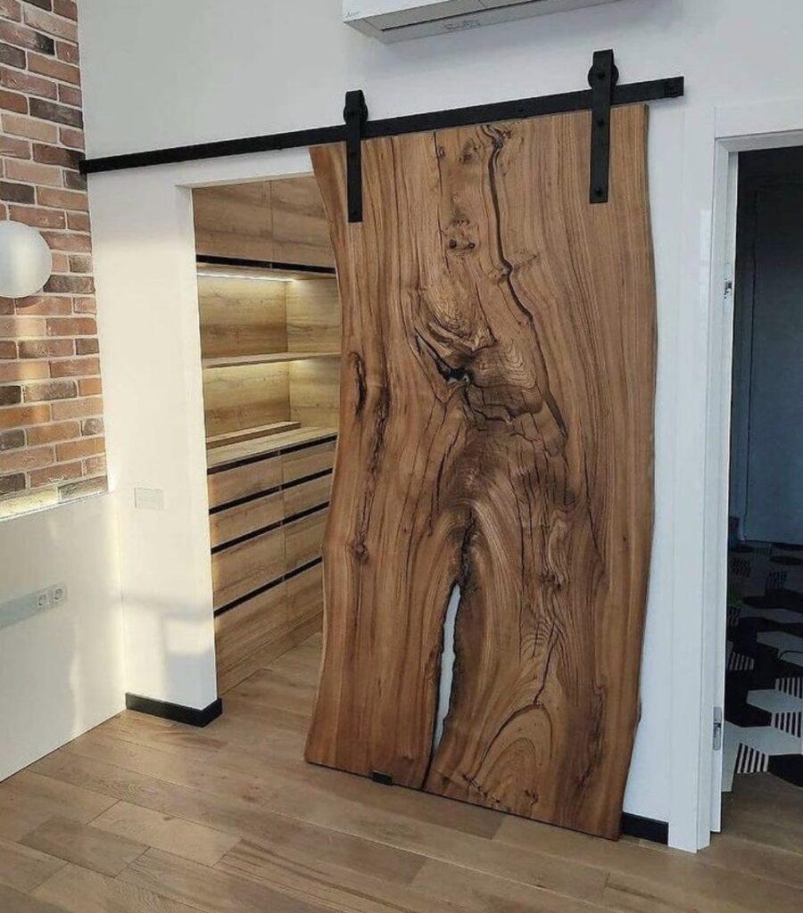 loft door acacia custommade frontside walkin closet