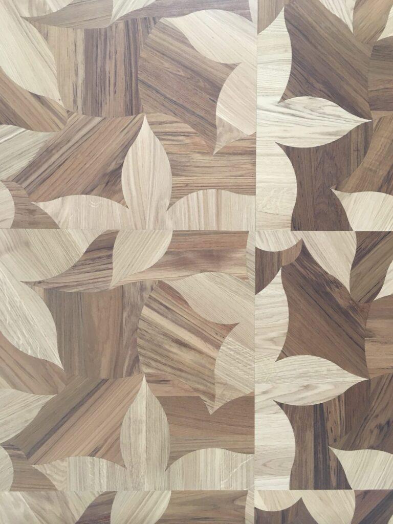square space leaves pattern engineered flooring italian oak teak natural grade