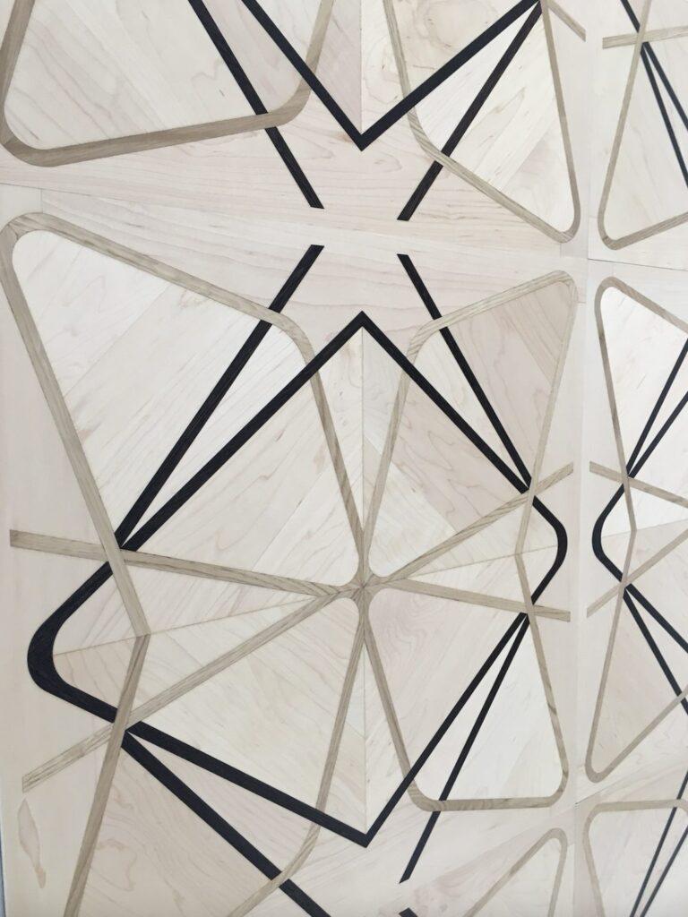 square space stars pattern engineered flooring canadian maple italian oak wenge natural grade