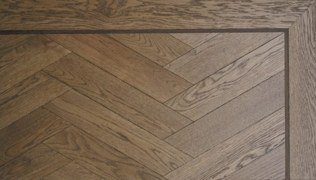 weense punt solid flooring french oak with solid wenge strips darkbrown oiled natural grade