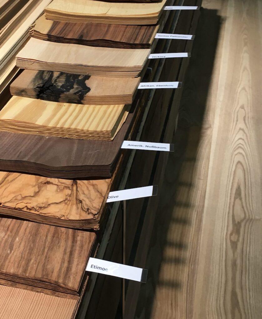wood veneer species