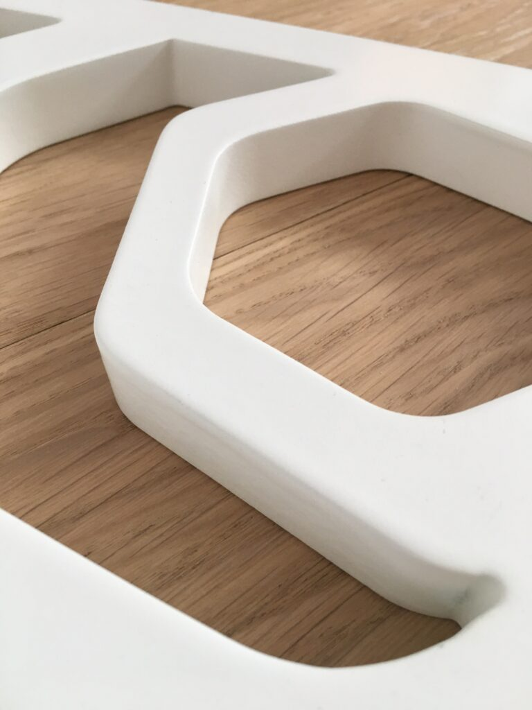 wall partition mdf detail